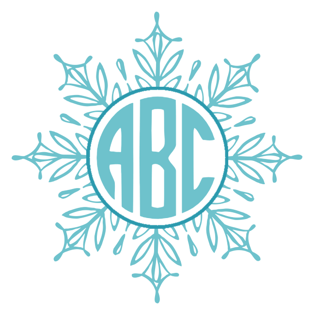 Free clipart round snowflake vector library download Free Custom Snowflake Monogram | Customize Online vector library download