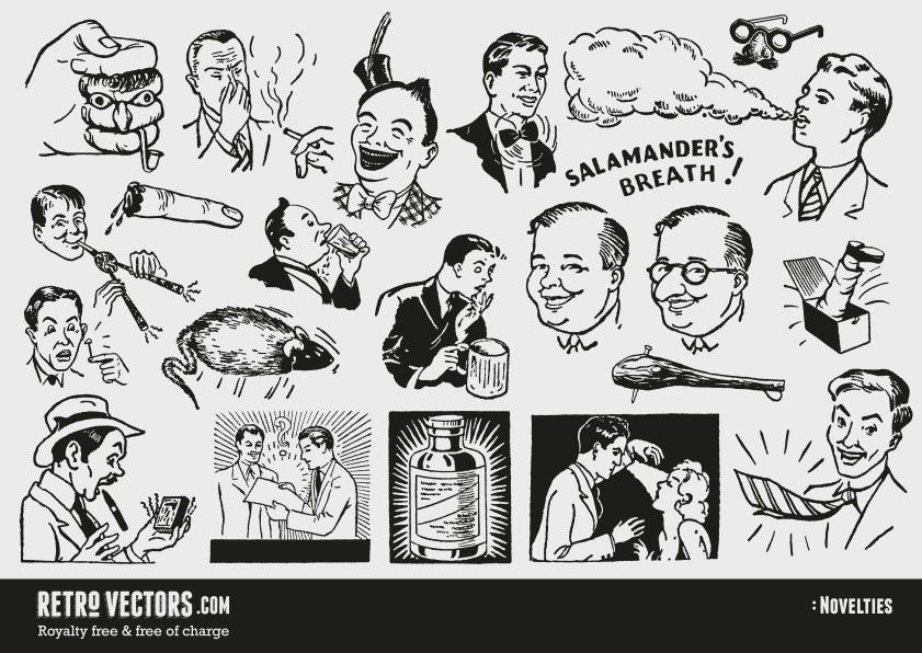 Free vector clipart for commercial use jpg black and white download 50s novelty advert clipart | Vintage Vectors | Royalty Free ... jpg black and white download