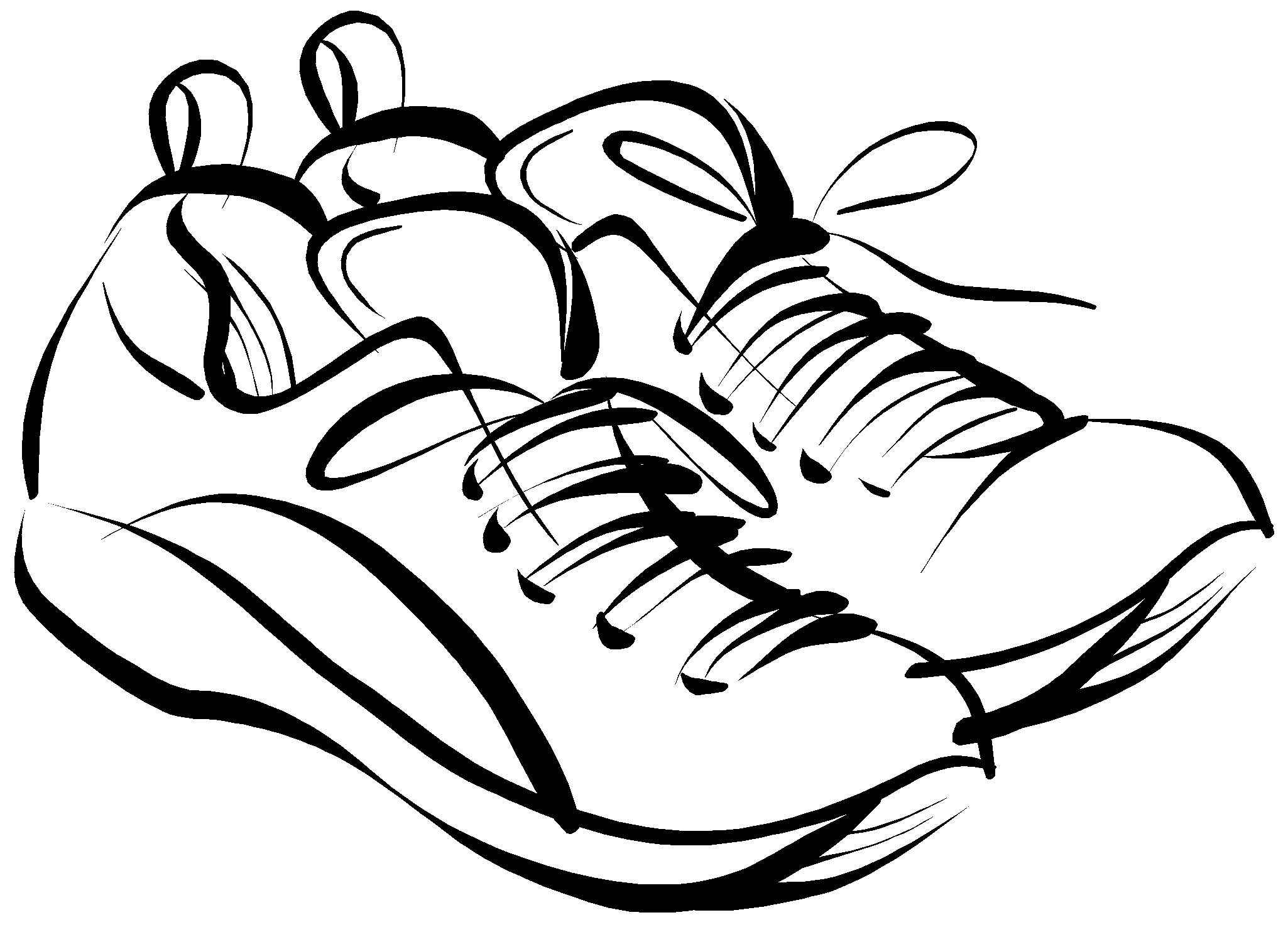 Running shoes clipart picture free library Running Shoes Drawing Clipart Panda Free Clipart Images | I want a ... picture free library