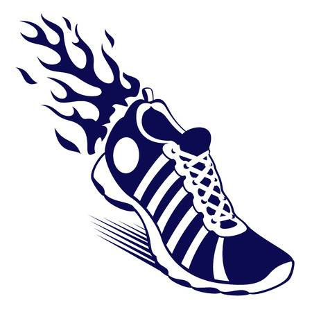 Free clipart running shoes.  cliparts stock vector