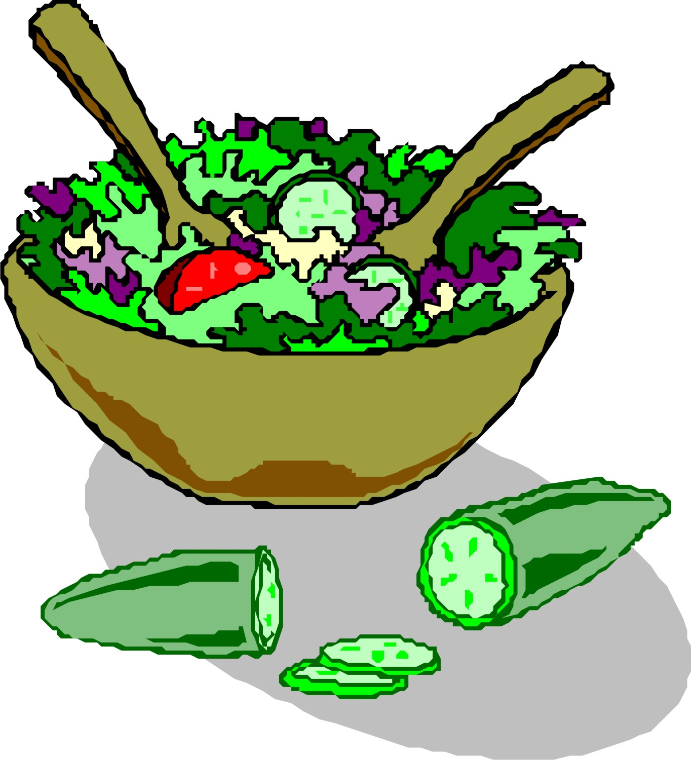 Salad images free clipart vector black and white stock Salad clip art free clipart images 3 - ClipartPost vector black and white stock