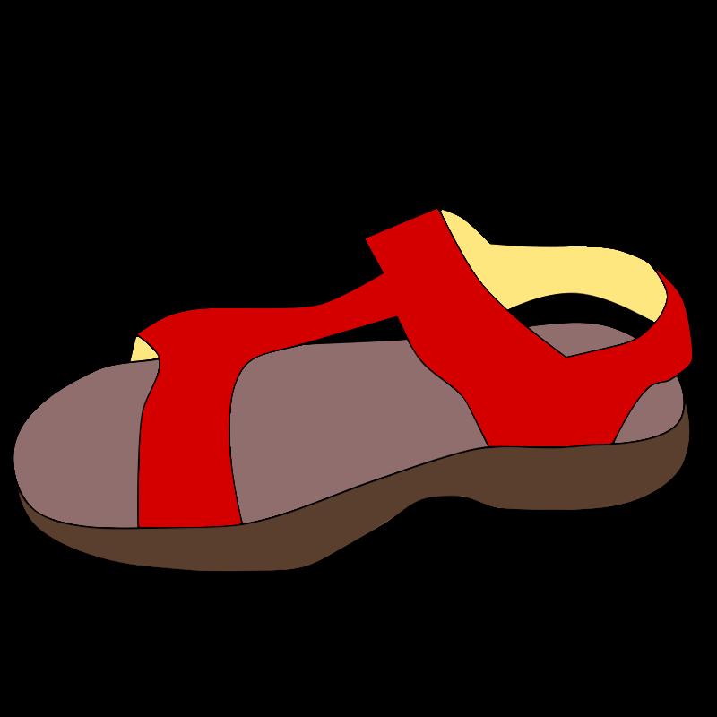 Red jarekadam . Free sandal clipart