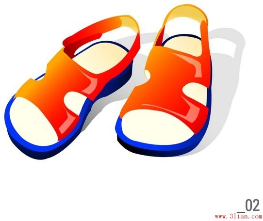 Free sandal clipart. Sandals vector in adobe