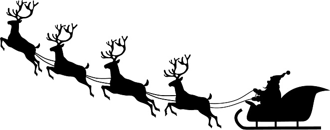 Free clipart santa and sleigh vector stock Free Sleigh Silhouette Cliparts, Download Free Clip Art, Free Clip ... vector stock