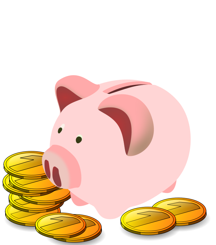 Free clipart save money jpg royalty free download Piggy Bank Free - Encode clipart to Base64 jpg royalty free download
