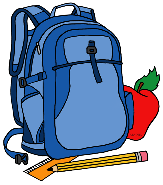 School bags clipart svg download School Clip Art by Phillip Martin, Backpack svg download