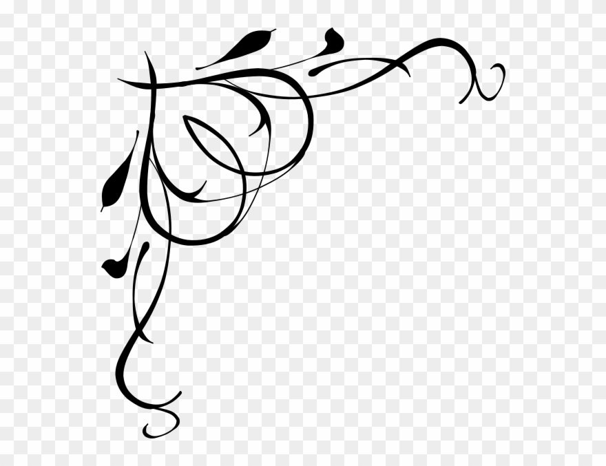 Free clipart scrolls and flourishes with swords svg black and white stock Free Clipart Scrolls And Flourishes - Png Download (#2798603 ... svg black and white stock
