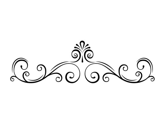 Free clipart scrolls and flourishes with swords jpg royalty free download Page border SVG | Swirl, Decorative filigree divider, Scroll ... jpg royalty free download