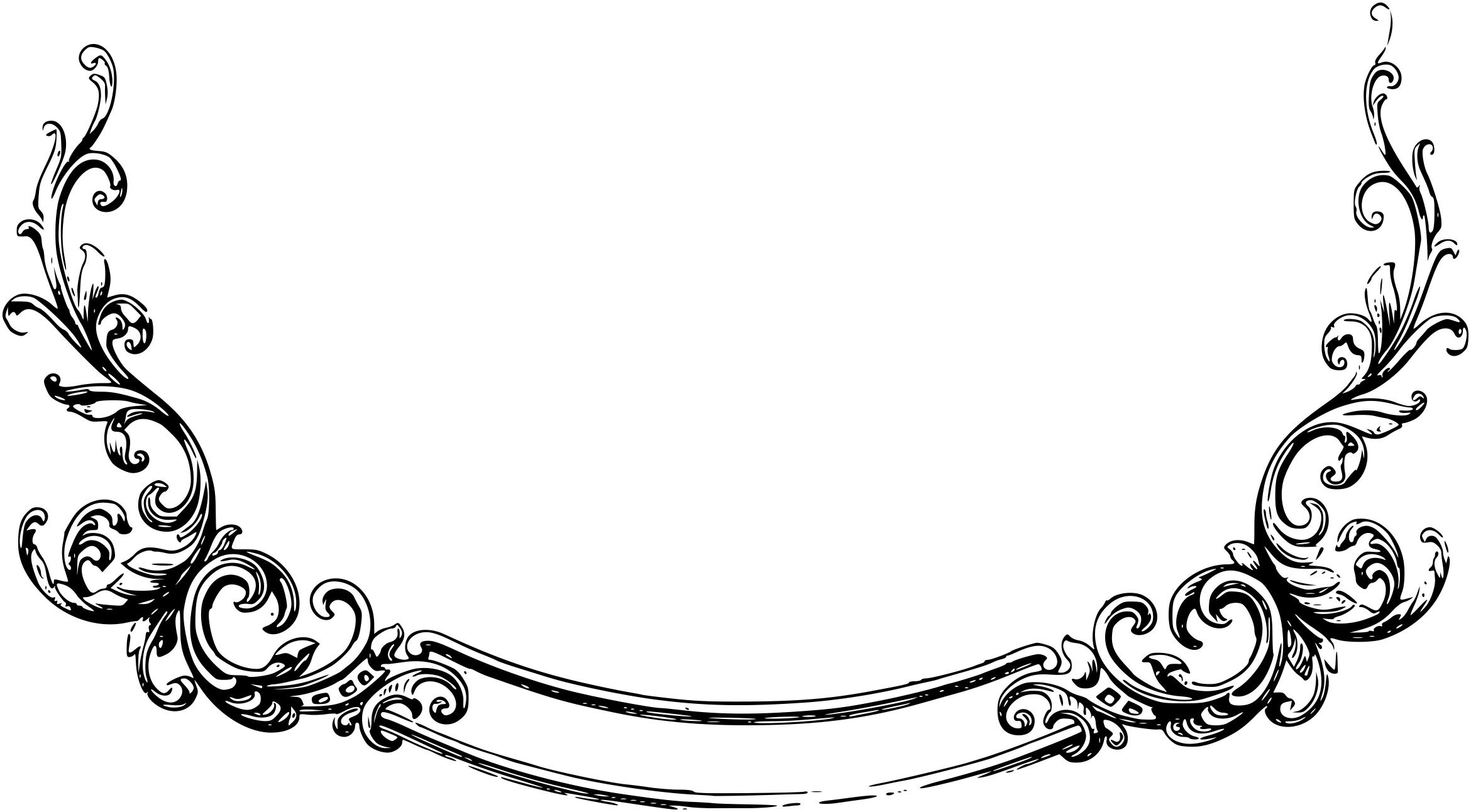 Free blue scrolled floral design clipart header vector transparent stock Scrollwork scroll artwork clipart free | Banners | Clip art, Scroll ... vector transparent stock
