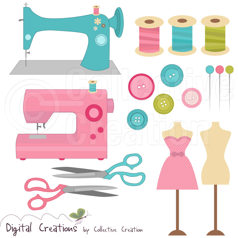 Free clipart sewing items black and white library 25+ Free Sewing Clip Art | ClipartLook black and white library
