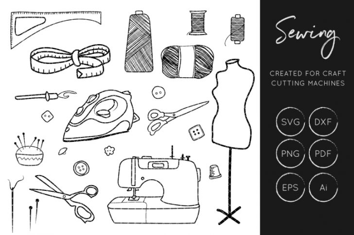 Free clipart sewing items png black and white stock free clipart sewing items | www.thelockinmovie.com png black and white stock