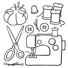 Free clipart sewing items vector library Sewing Clipart Group with 56+ items vector library
