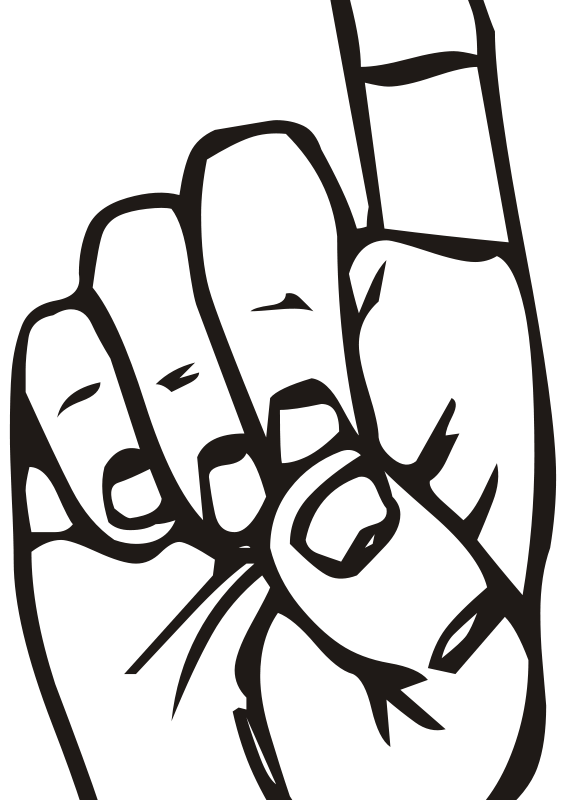 Free clipart sign language vector free Free Clipart: Sign language D, finger pointing | People | liftarn vector free
