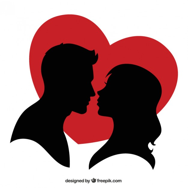 Free clipart silhouette hearts picture royalty free library Silhouettes vectors, +6,300 free files in .AI, .EPS format picture royalty free library