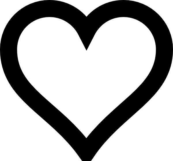Outline heart clipart picture black and white library Free clipart silhouette hearts - ClipartFest picture black and white library