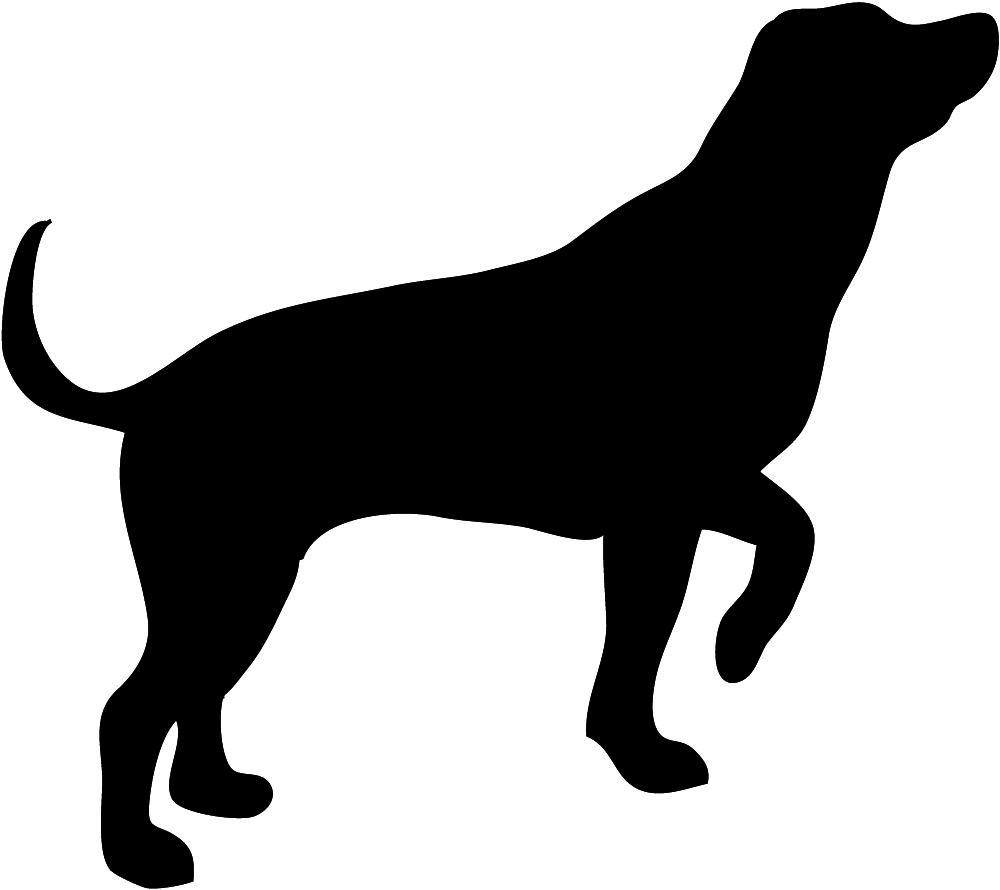 Free clipart silhouette of a hound clipart library stock Dog Silhouette clipart library stock