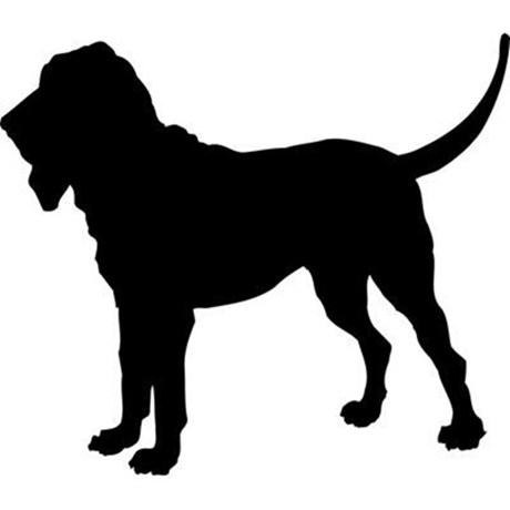 Free clipart silhouette of a hound jpg black and white Bloodhound Clipart | Free download best Bloodhound Clipart on ... jpg black and white