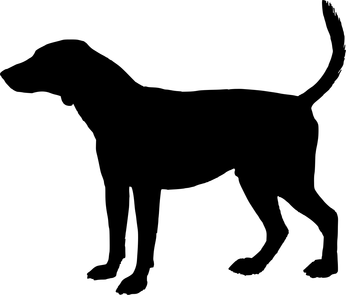 Free clipart silhouette of a hound svg library Free Dog Head Silhouette, Download Free Clip Art, Free Clip Art on ... svg library