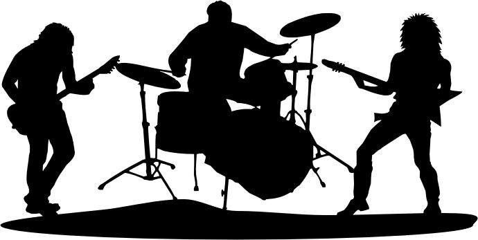 Free clipart silhouette of a music band clipart library stock Rock Band Clipart Silhouette - Clipart1001 - Free Cliparts clipart library stock