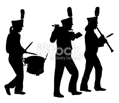 Free clipart silhouette of a music band png free Marching Band Silhouette Clipart - Free Clip Art Images\