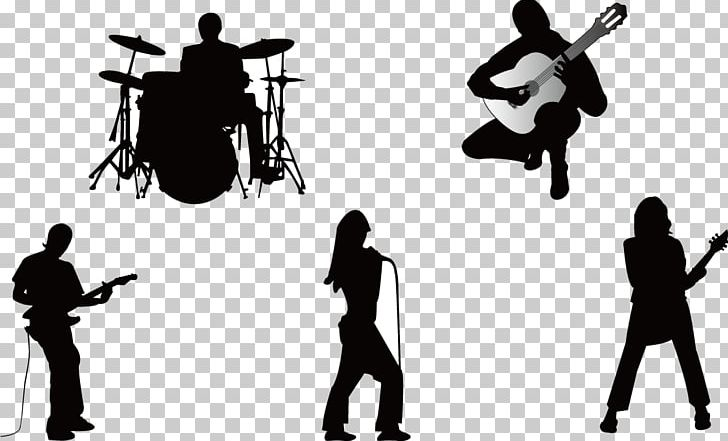 Free clipart silhouette of a music band banner free download Musical Ensemble Silhouette Musician Guitarist PNG, Clipart ... banner free download