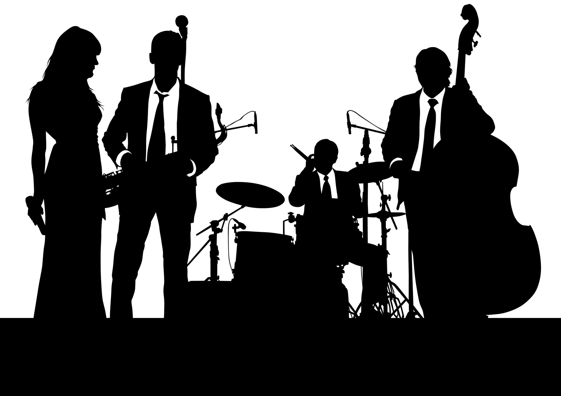 Live band clipart