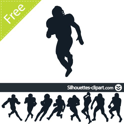 Free clipart silhouette of men watching football banner transparent download american football players vector silhouette | silhouettes clipart ... banner transparent download