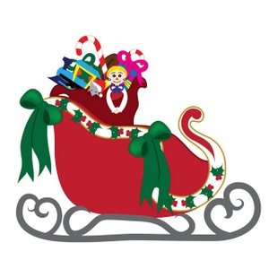 Free clipart sleigh image black and white Free Sleigh Cliparts, Download Free Clip Art, Free Clip Art on ... image black and white