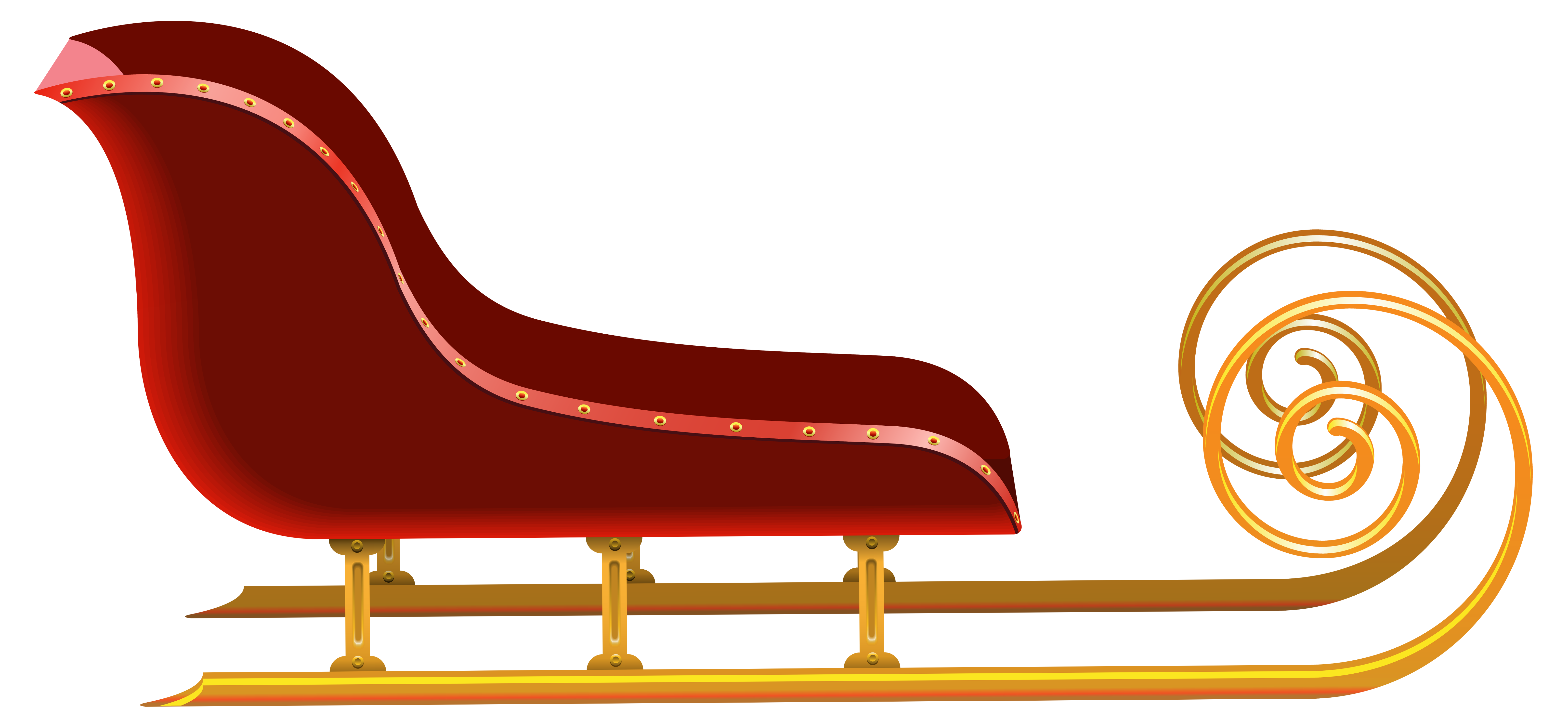 Free clipart sleigh. Red png clip art