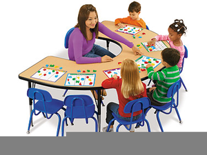 Free clipart small group at a table. Instruction images clker com