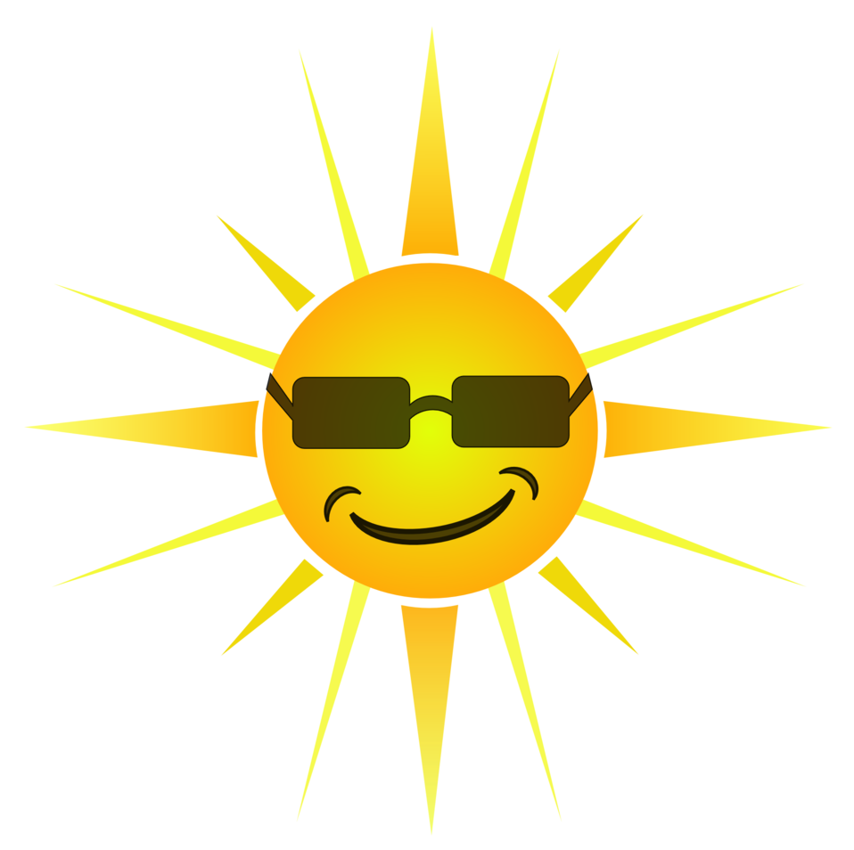 Sun smiling clipart image transparent stock Public Domain Clip Art Image | Cool Happy Sun | ID: 13526094611093 ... image transparent stock