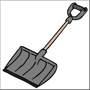 Snowshovel clipart clip free Clip Art: Snow Shovel Color I abcteach.com | abcteach clip free