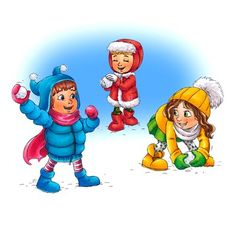 Free clipart snowball fight