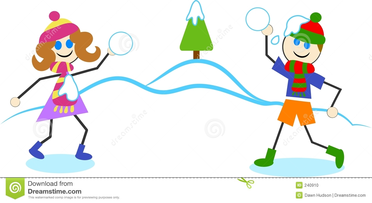 clipartlook. Free clipart snowball fight