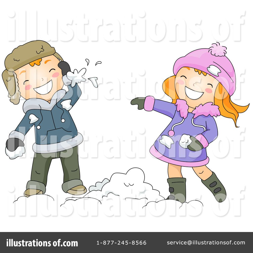 By bnp design studio. Free clipart snowball fight