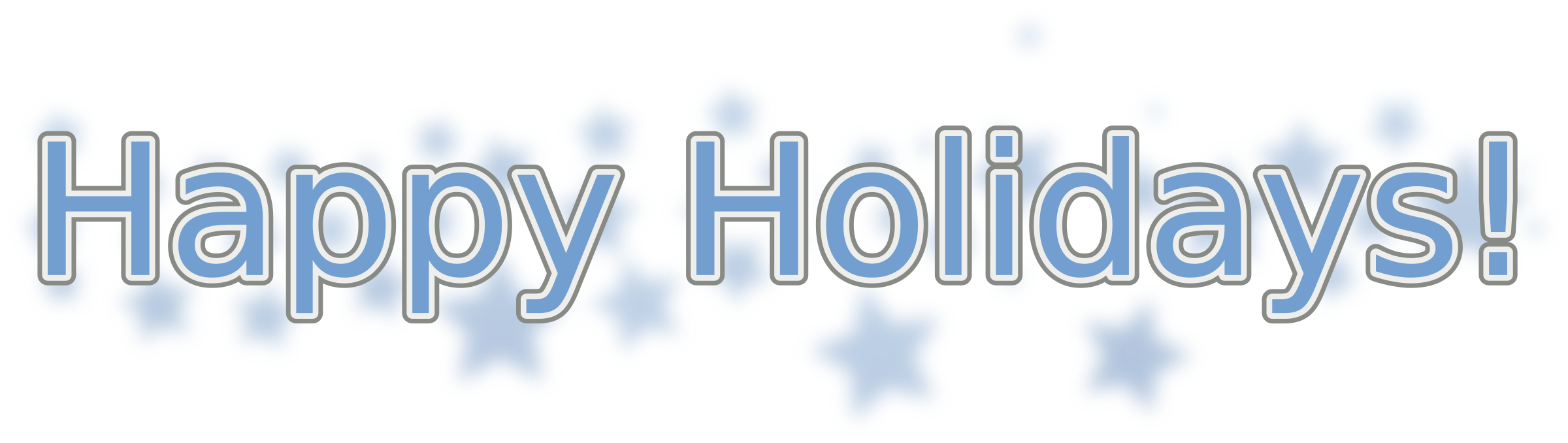 Happy snowflake clipart clip library Clipart - Happy Holidays (with Snowflakes) clip library
