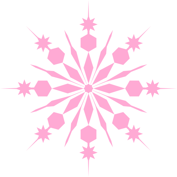 Free clipart snowflake pink png free library Snowflake Pinky Pink Clip Art at Clker.com - vector clip art online ... png free library
