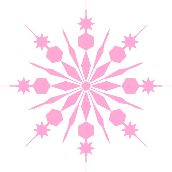 Pink and grey snowflake clipart svg royalty free library Snowflake Pinky Pink Clip Art at Clker.com - vector clip art online ... svg royalty free library