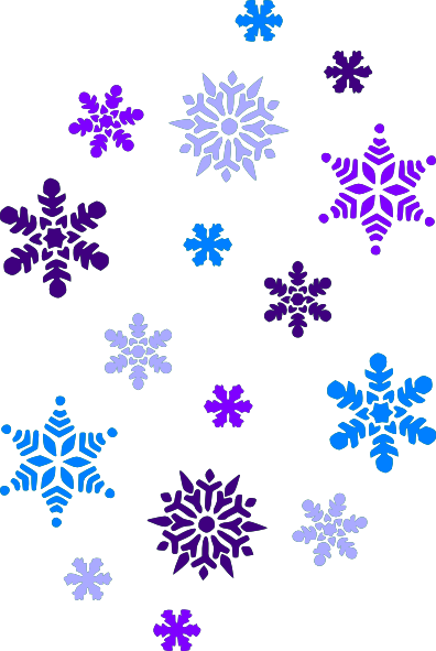 Snowflake free clipart clipart freeuse Snowflake Clipart | Multi Blue Snowflakes clip art - vector clip art ... clipart freeuse