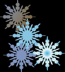 Snowflakes 2 Clip Art at Clker.com - vector clip art online, royalty ... clipart transparent