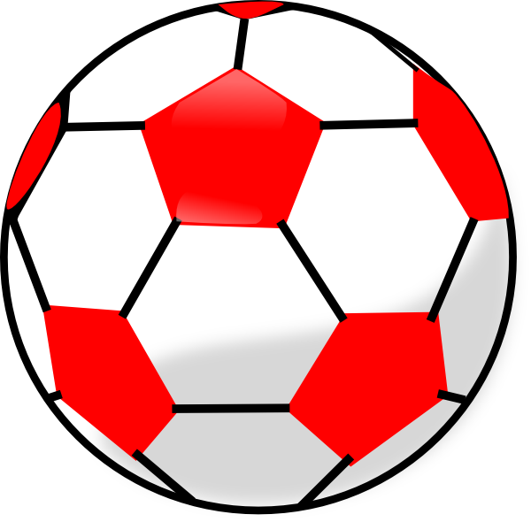 Free clipart soccer ball png transparent library Red Soccerball Clip Art at Clker.com - vector clip art online ... png transparent library