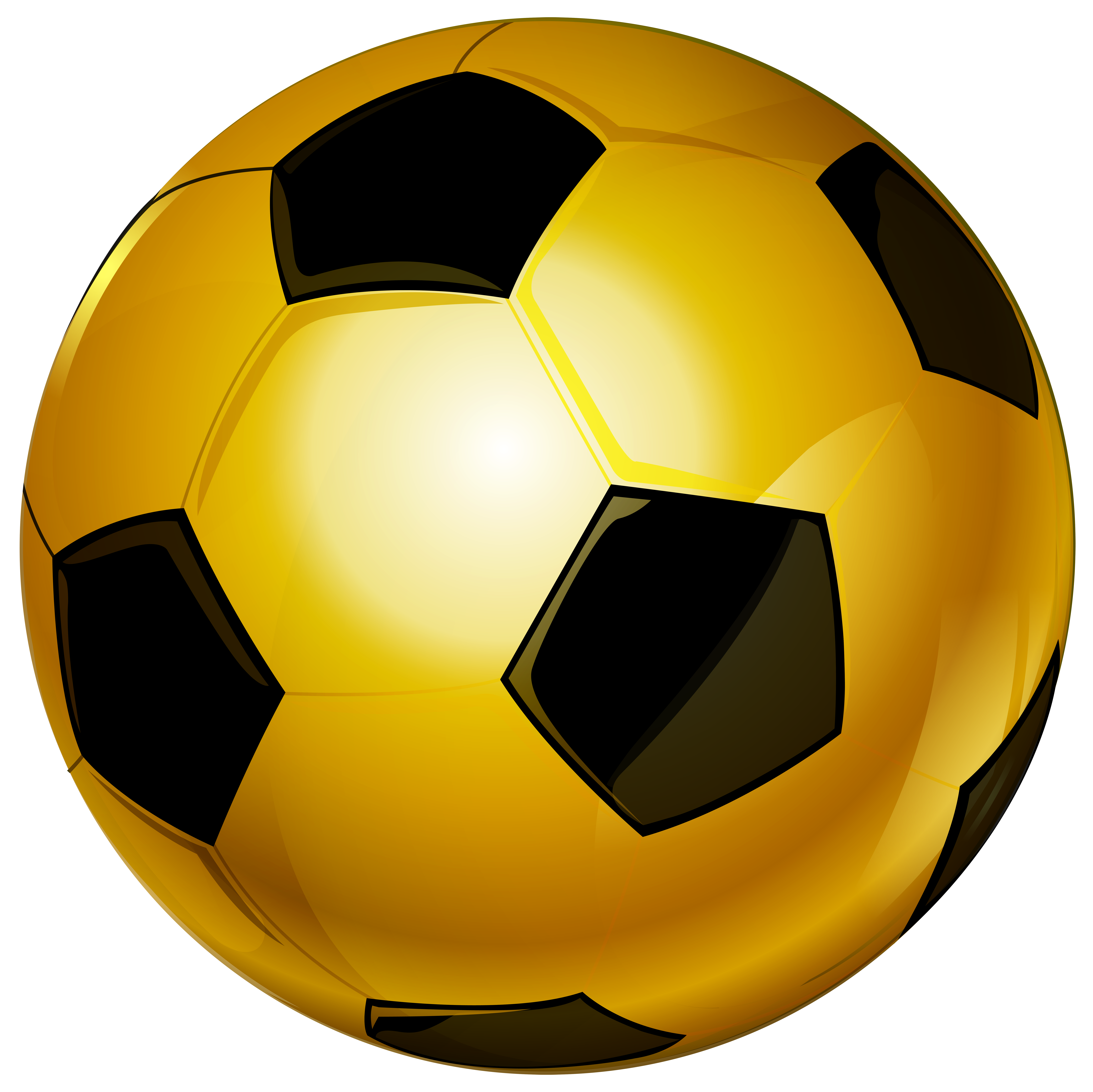 Soccer ball clipart free clip Gold Soccer Ball PNG Clip Art Image | Gallery Yopriceville - High ... clip