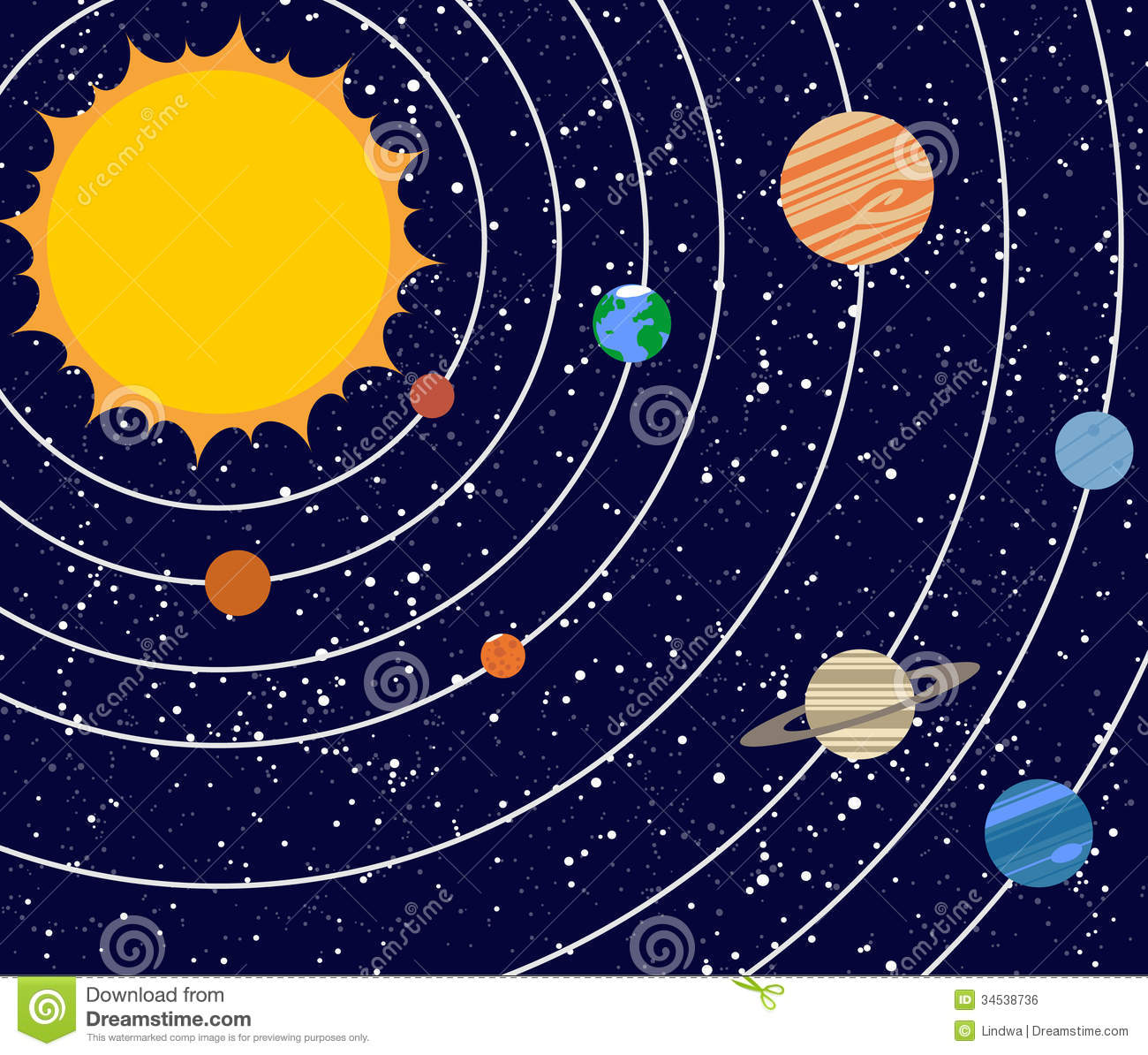 Free clipart solar system.  clipartlook