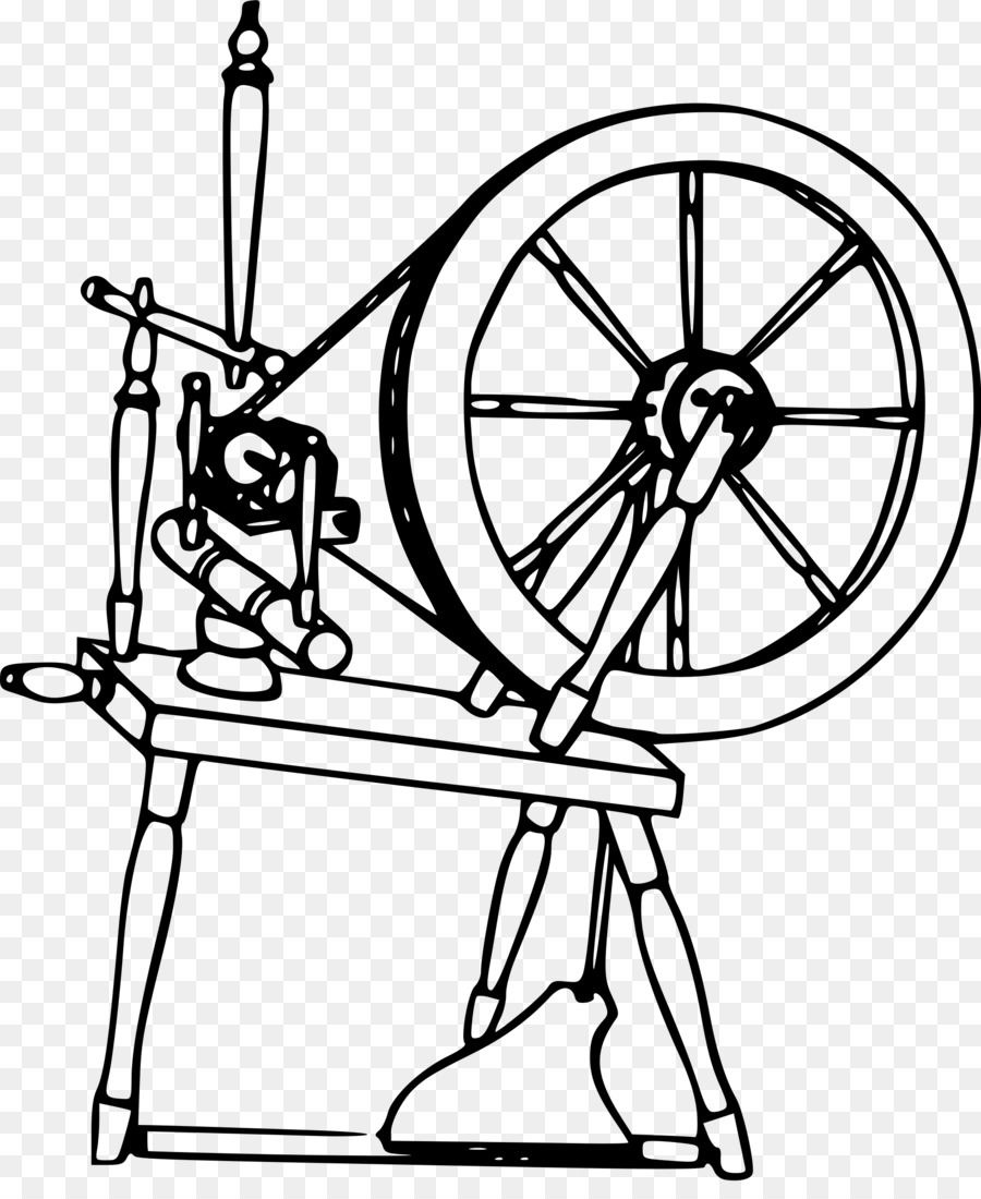 Line art png download. Free clipart spinning wheel