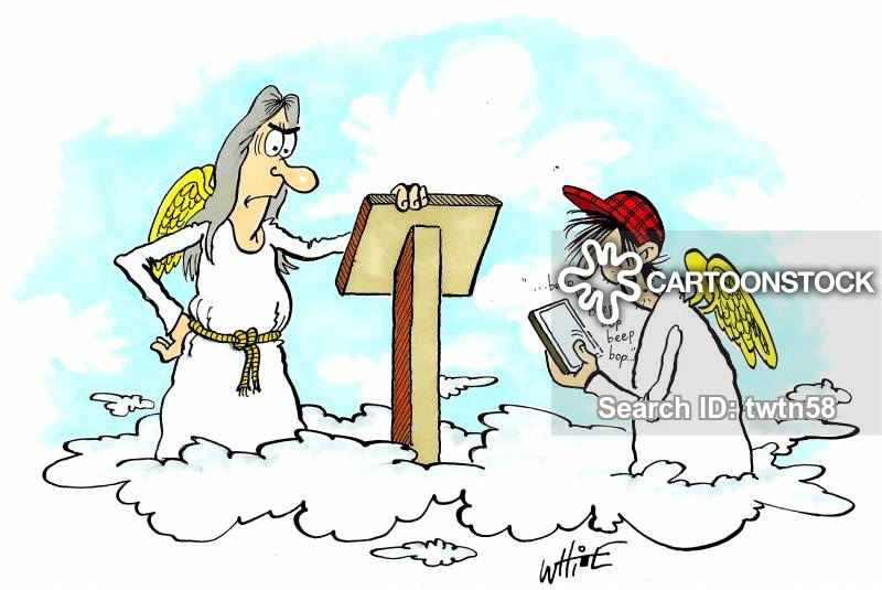 Free clipart st christopher at the pearly gates with dog graphic free stock St.peter Cartoons and Comics - funny pictures from CartoonStock graphic free stock