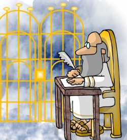 Free clipart st mad dog at the pearly gates clip black and white Ask the Pastor: Peter and the Pearly Gates clip black and white