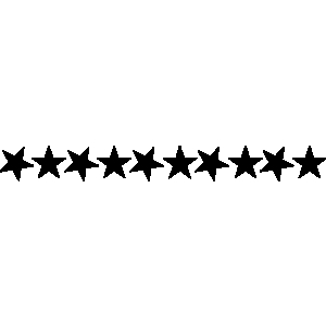 Free clipart stars row of 10 black & white. Line download best on