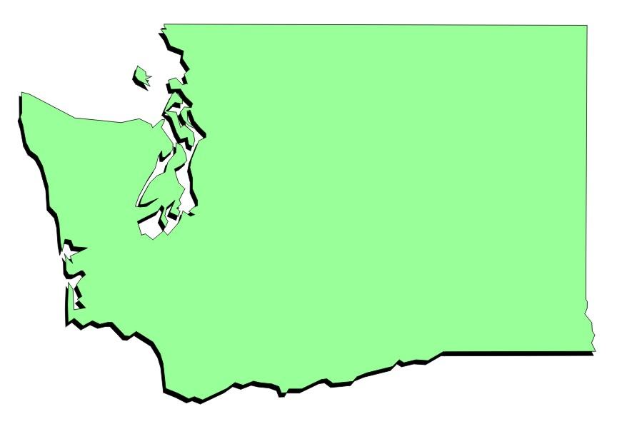 Washington state map clipart