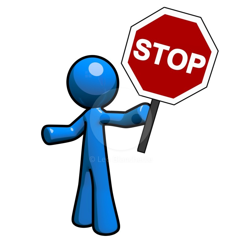 Stopping clipart