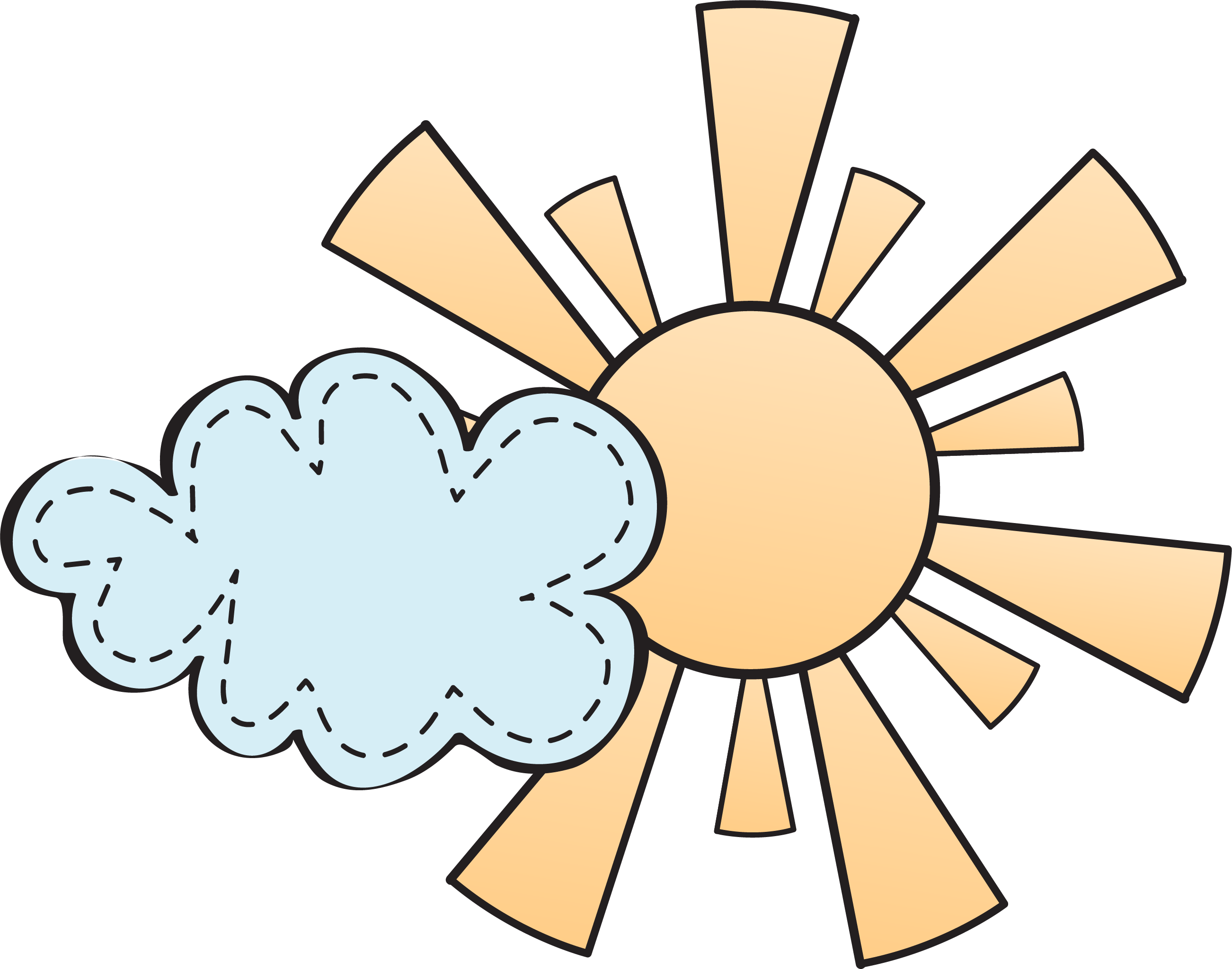 Free clipart sun and clouds freeuse download Blue ribbon Award Clip art - Cartoon sun cartoon clouds 2603*2049 ... freeuse download